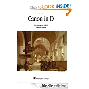 Canon in D - Piano or Organ Solo (Sheet Music): Piano or Organ Solo (Jun 1, 1984)