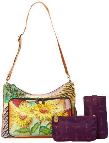 Anuschka 479 SFS Satchel,Sunflower Safari,One Size
