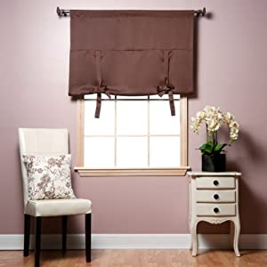 "Tie-Up Shade Solid Insulated Thermal Blackout Window Shade 63""L - TUB by Best Home Fashion"