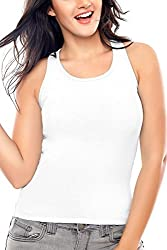 Coucou by Zivame Women's Cotton Top (RB001-White_Small)