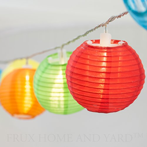 Outdoor String Lights Extra Long : 24 Multi Color Mini Nylon String Patio Lights - Extra Long 16ft - Waterproof Indoor Outdoor LED ...