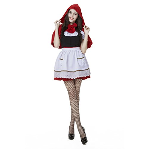 Oxfox Halloween Costume Little Red Riding Hood Fancy Dress Masquerade Party Outfit Ladies Women S
