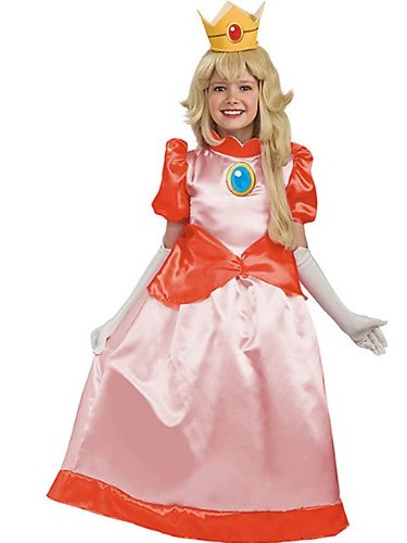 Super Mario Brothers Child's Deluxe Costume, Princess Peach Costume