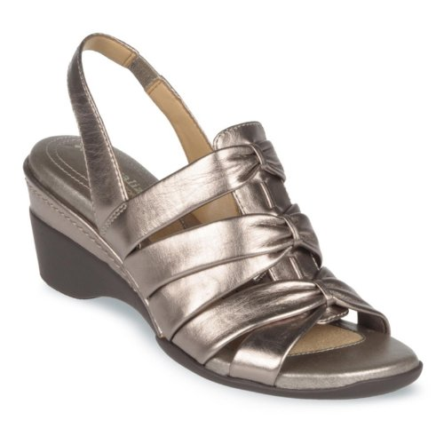 Naturalizer Women's Achira Sling Sandals, NICKEL ALLOY, 12 M/B