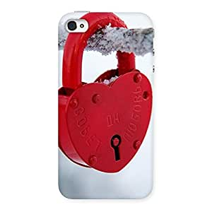 Ajay Enterprises Brave Red Lock Multicolors Back Case Cover for iPhone 4 4s