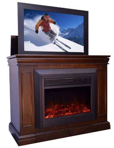 Conestoga TV Lift Cabinet with Electric Fireplace picture B00G5IR43M.jpg
