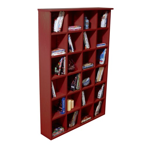 PIGEON HOLE - CD DVD Blu-ray Media Storage Shelves - Mahogany Black Friday & Cyber Monday 2014