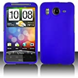 HTC Inspire 4G Rubberized Blue Protective Hard Case Cover for HTC Inspire 4 ....