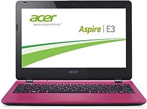 Acer Aspire E3-112-C2KP 29,5 cm (11,6 Zoll) Notebook (Intel Dual Core Prozessor N2840, 2,58GHz, 2GB RAM, 500GB HDD, Win 8.1) rosa