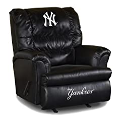 Buy MLB New York Yankees Big Daddy Leather Recliner by Imperial