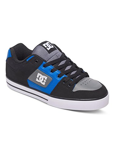 Dc Shoes Pure M Shoe, Color: Black/Blue/Grey, Size: 45.5 EU (11.5 US / 10.5 UK)