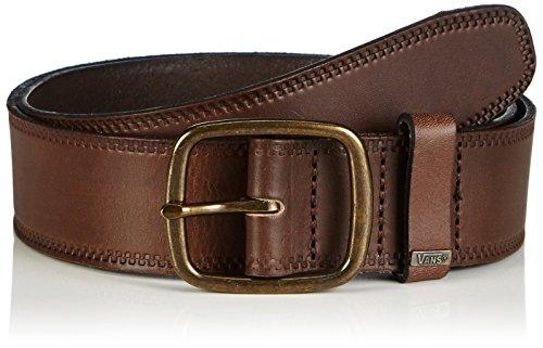 Vans - Federal Leather Belt, Cintura Uomo, Marrone (Brown), Medium (Taglia Produttore: Medium)