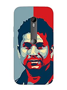 Sir Sachin Tendulkar - Hard Back Case Cover for Moto XStyle - Superior Matte Finish - HD Printed Cases and Covers