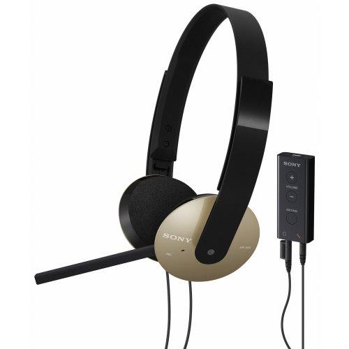 Sony DR-350USB halb offen Kopfhörer (102 dB/mW) golden