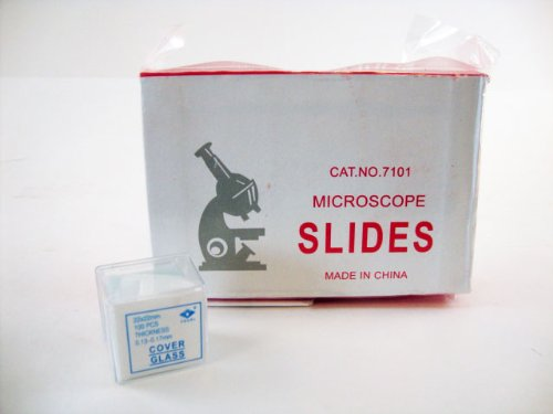 AmScope BS-100P-100S-22-A Microscope Slides, 100 Blank Slides with 100 Cover Glass Coverslips