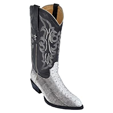 New Men's J-Toe Genuine Water Snake Leather Los Altos Western/Cowboy Boots