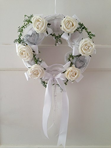 Door Wreath Decoration Home Decor Baptism Communion Christening Wedding Reception Shower