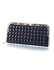 Mela Glossy Finish Non Leather Women`s Wallet-Black