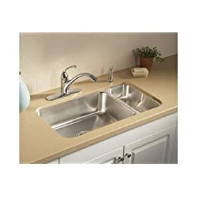 "Sterling UCL3322R McAllister Sink 29"" x 15"" x 5""-7"" Stainless Steel"