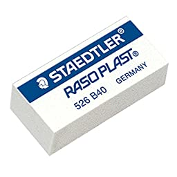 STAEDTLER RASO PLAST Pencil Eraser 526 B40, Pack 5 pcs