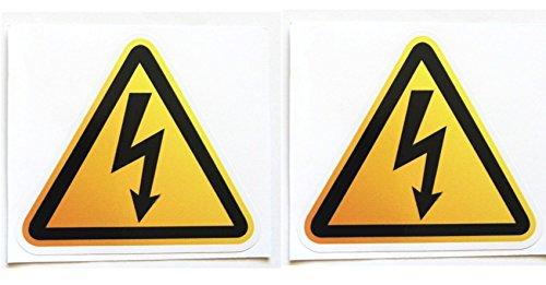 感電注意・漏電危険 ステッカー  防水シール 2枚セット