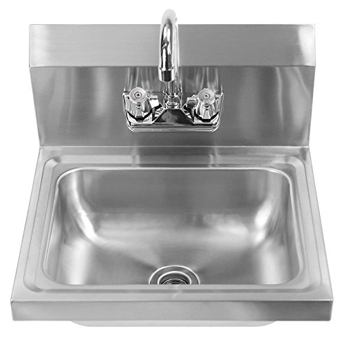 Gridmann Commercial NSF Stainless Steel Sink - Wall Mount Hand Washing ...