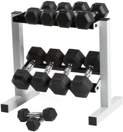 CAP Barbell 150 lb Rubber Hex Dumbbell Set