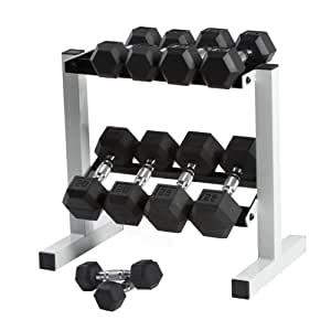 Amazon.com : Cap Barbell Rubber Hex Dumbbell Set, 150-Pound : Sports