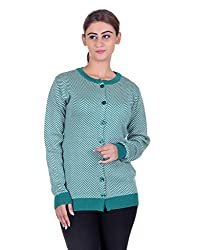 eWools Women's Green Wool Sweater (743-eWools-Medium)