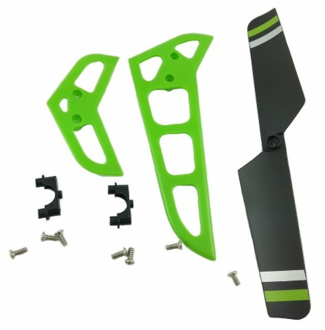 MJX F645 F45 GREEN Stabilizers and Tail Blade Set - 1