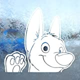 BOLT DOG White Decal DISNEY Car Laptop Window Vinyl White Sticker