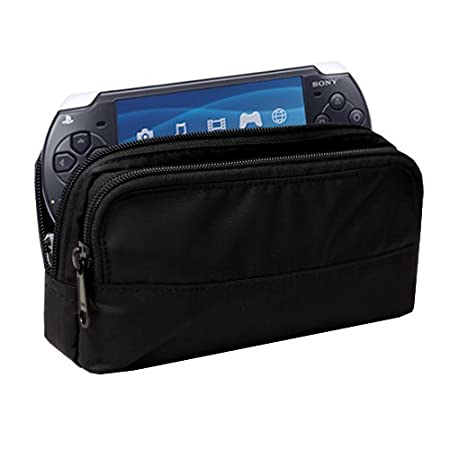 Sony PSP Fit Pouch with Pockets for Accessories - Black