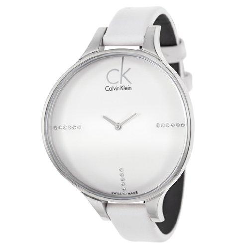 Calvin Klein que brillan en la oscuridad de las mujeres reloj de pulsera de cuarzo K2B23137