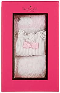 kate spade york 3 Pack Sock Set - 2, Valentine Pink/Fresh White,One Size by Tawil & Associates
