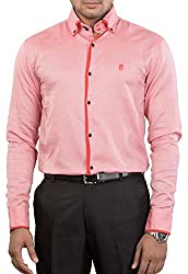 Unkonventional Men's Casual Shirt (unkimppeazzm_Pink_38)