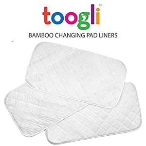 Extra Large Changing Pad Liners By Toogli (3 pk) - 35 x 18 In. Waterproof Change Table Pad Covers. Great For Travel Too. by Toogli baby products