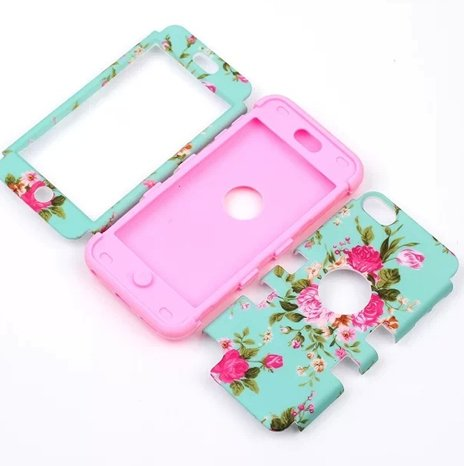 For iPod Touch 5,cute ipod touch 5 cases,Touch iPod 5 case,Flipcase Touch 5 cases,Case for Touch 5 Case 3in1 Beautiful Flowers Picture Hybrid Cover Case Suitable Fit For iPod Touch 5th Generation,ipod 5 touch cases for girls ipod touch 5 case e lv ipod touch 5 case hard and soft hybrid armor defender sports combo case for apple ipod touch 5 itouch 5th generation with 1 screen protector 1 black stylus 1 water resistant bag and 1 e lv microfiber digital cleaner