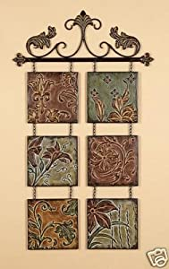 wrought iron metal sculpture wall decor art. Black Bedroom Furniture Sets. Home Design Ideas