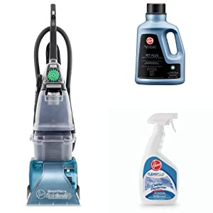 Hoover SteamVac Carpet Cleaner Bundle with Pet Plus Carpet and Upholstery Detergent and Heavy Duty Spot Spray
