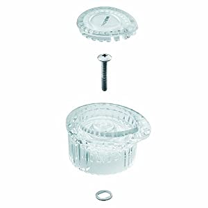 Moen 100710 Posi-Temp One-Handle Tub and Shower Knob Handle Kit with White and Chrome Insert