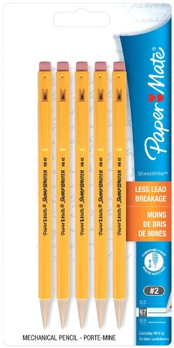 Sharpwriter 0.7Mm Mechanical Pencils, 5-Pack