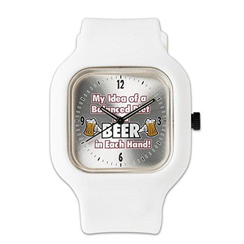 white-fashion-sport-watch-my-idea-balanced-diet-beer-each-hand