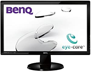 BenQ GL2450HM LED TN 24-inch Widescreen Multimedia Monitor (1920 x 1080, 2 ms GTG, VGA, DVI-D, HDMI, speakers) - Glossy Black
