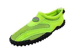 AimTrend Women\'s Water Pool Beach Aqua Shoes Neon Green-10