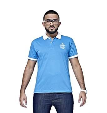 Mfaz - Polo Fashion - Couleur : Bleu - Taille : L