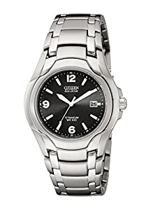 Citizen Men's BM6060-57F Eco-Drive Titanium Black Dial Watch