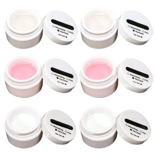 6x-uv-gel-aufbau-gele-set-nailart-f-french-nagel-15ml-klar-rosa-weiss