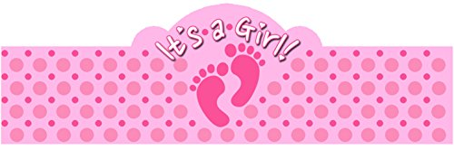 Cigar Bands Unlimited It's a GIRL! Self-Adhering Cigar Bands/Labels, Baby Feet, 20 Pack
