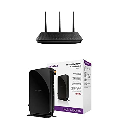 ASUS RT-N66U Dual-Band Wireless-N900 Gigabit Router & NETGEAR DOCSIS 3.0 High Speed Cable Modem Bundle