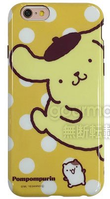 グルマンディーズ サンリオ ポムポムプリン iPhone6s/iPhone6対応 シェルジャケット アップ SAN-528A